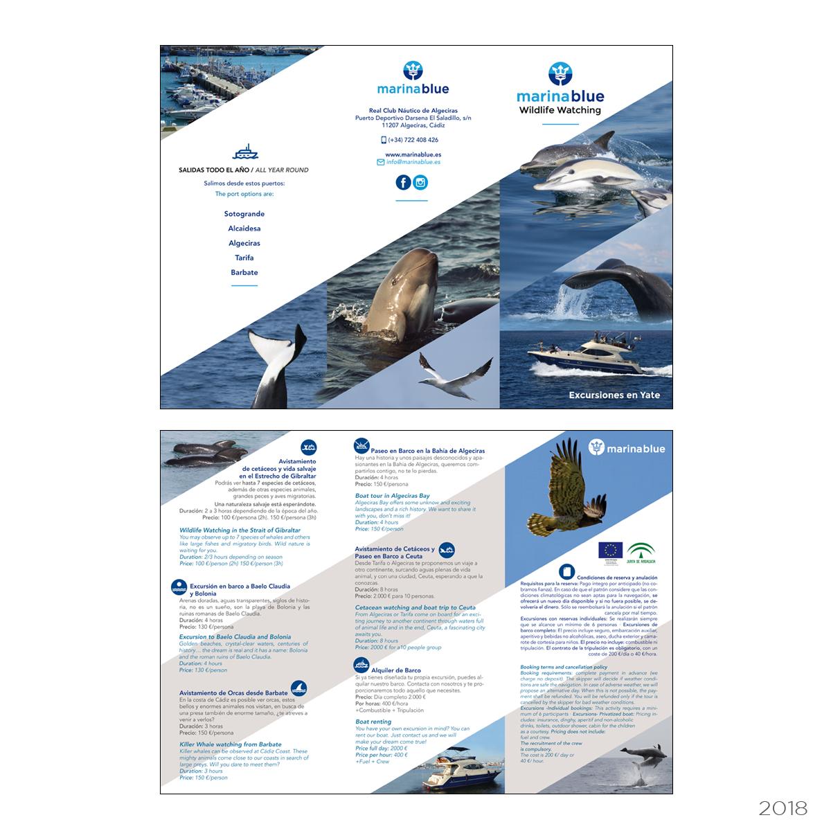 publicidad Marina Blue