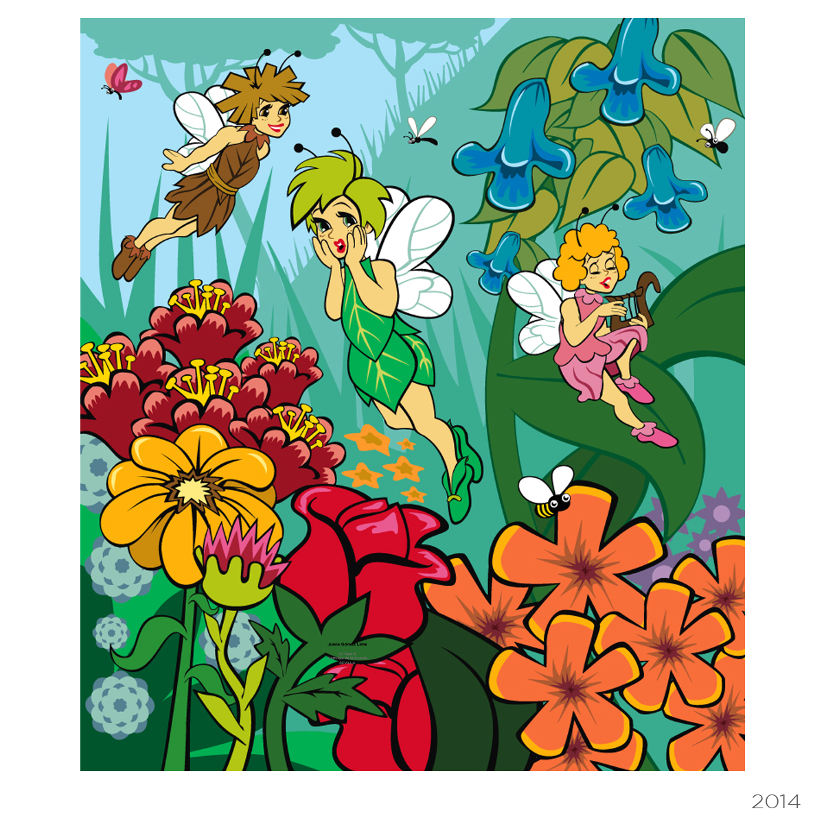 Ilustración juegos infantiles