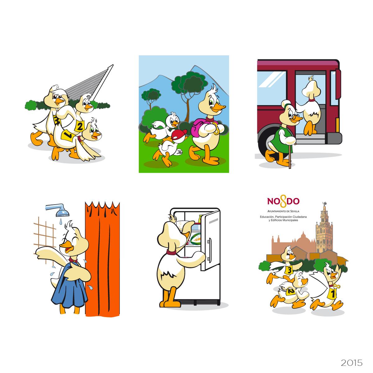 Ilustraciones juego de naipes