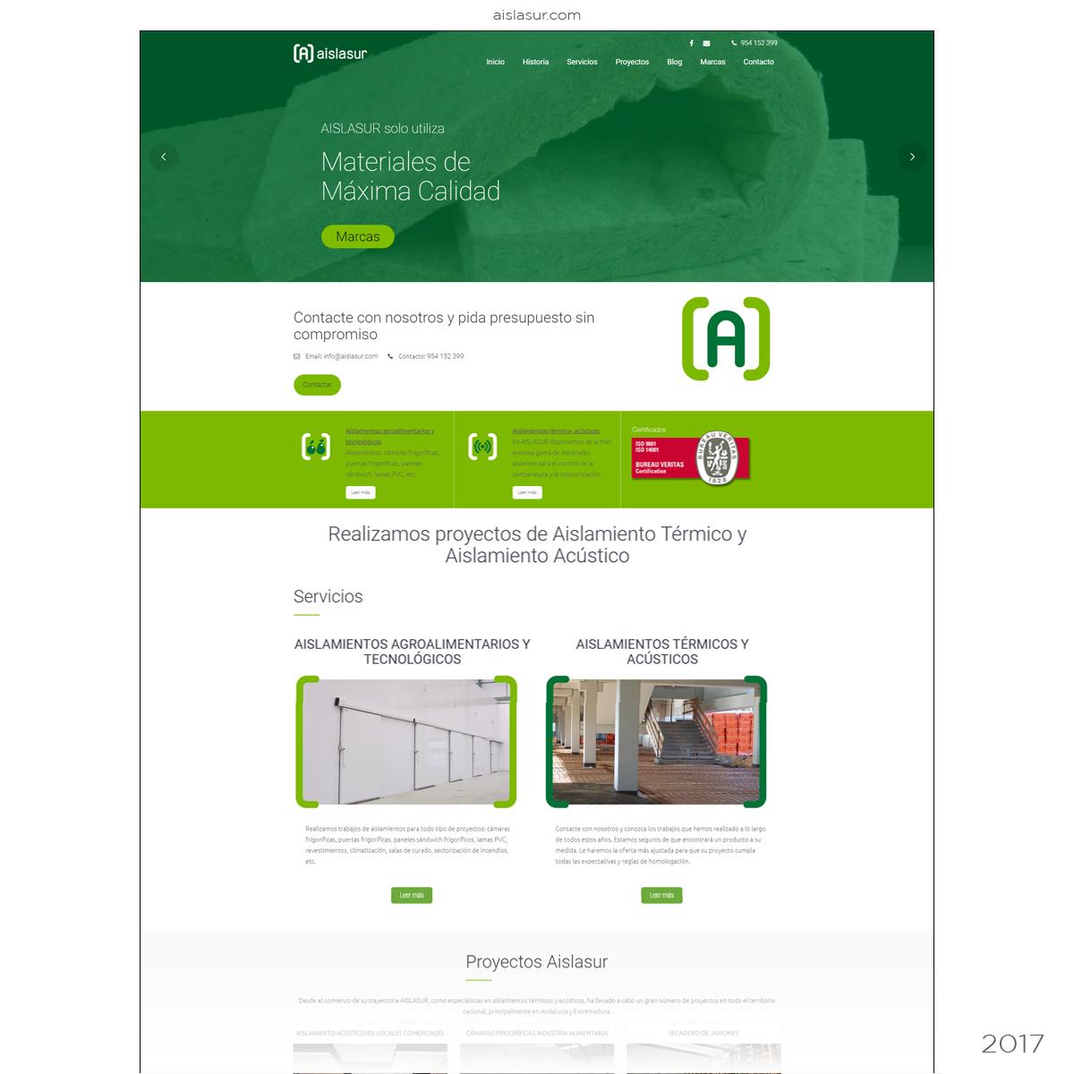 Página web empresa aislamientos