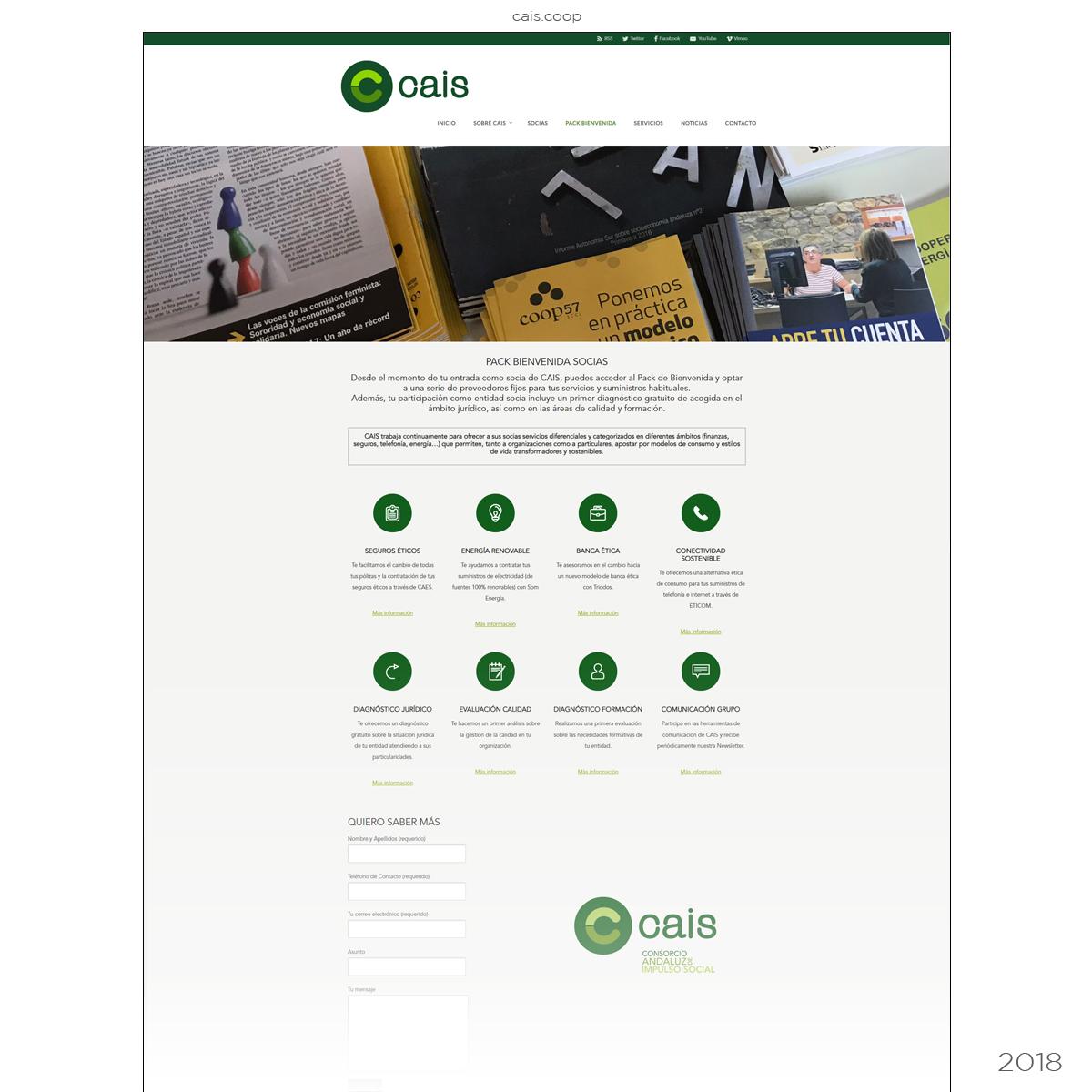Página Web Cooperativa CAIS