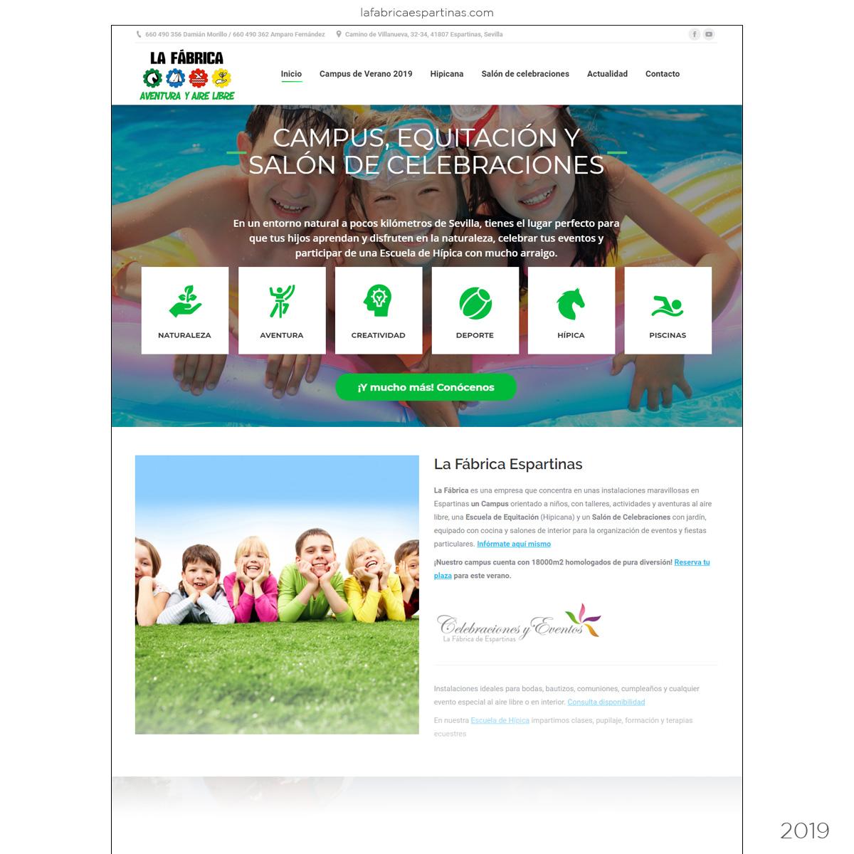 Web Empresa de Aventura y Tiempo Libre