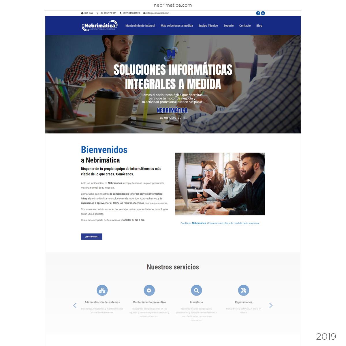 Web Empresa Informática