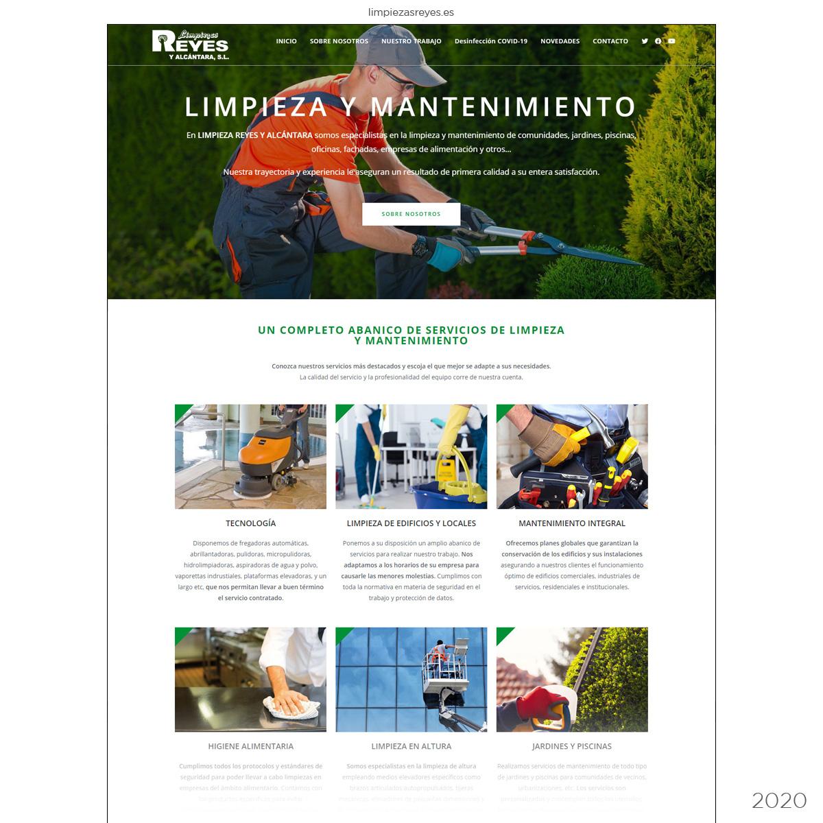 Página web empresa de limpieza